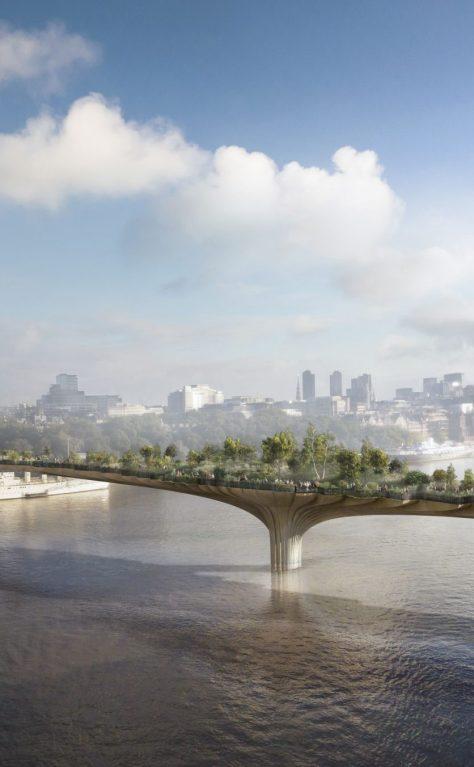Heatherwick's Garden Bridge across the Thames