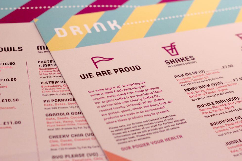 menu branding