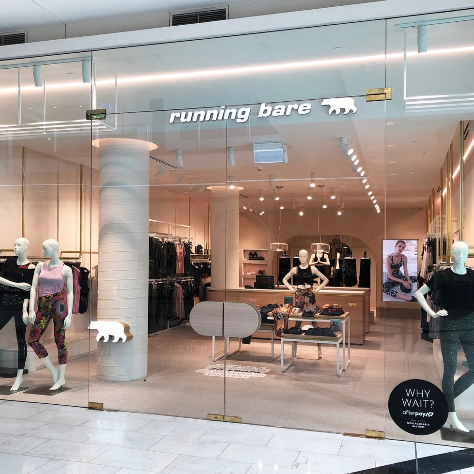 Running Bare opens at Westfield Chatswood !