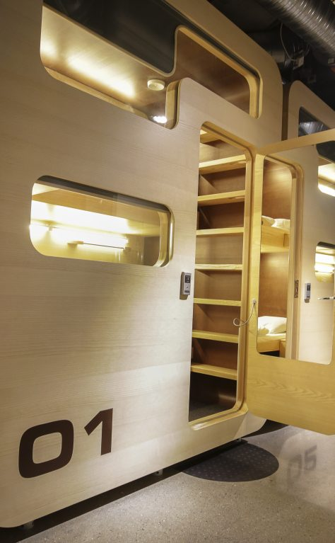Sleepboxes installed at Moscow Airport