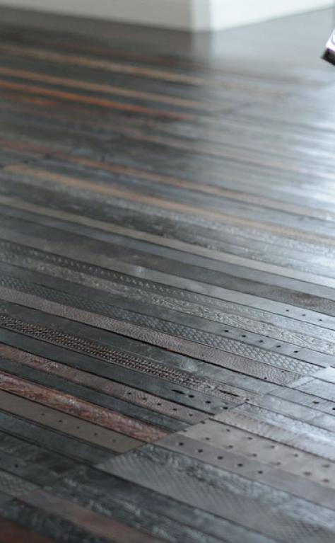 Ting's Leather Belt Flooring