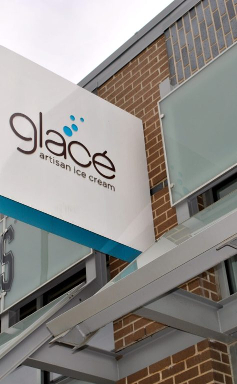 Today we like: Glacé Icecream Shop's Branding