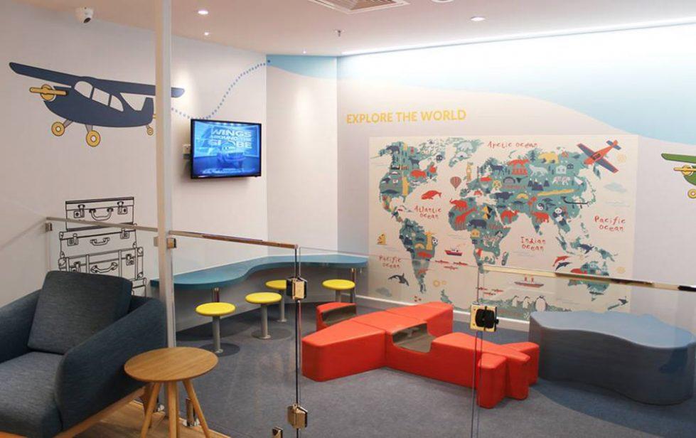design clarity, indoor playground area, games, children safe space design, fun graphics, child care facilities, shopping centres